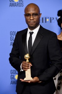 "For BEST MOTION PICTURE – DRAMA, the Golden Globe is awarded to ""Moonlight,"" directed by Barry Jenkins. Barry Jenkins poses with the award backstage in the press room at the 74th Annual Golden Globe Awards at the Beverly Hilton in Beverly Hills, CA on Sunday, January 8, 2017."